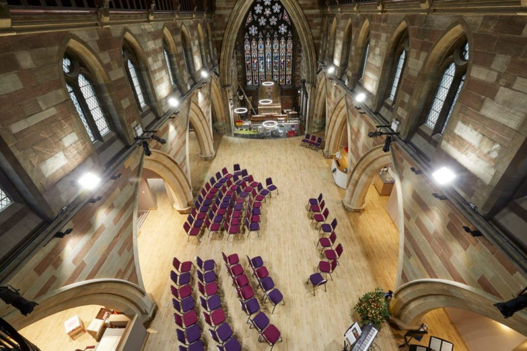 birdseye view of The Hub at St Mary's Lichfield