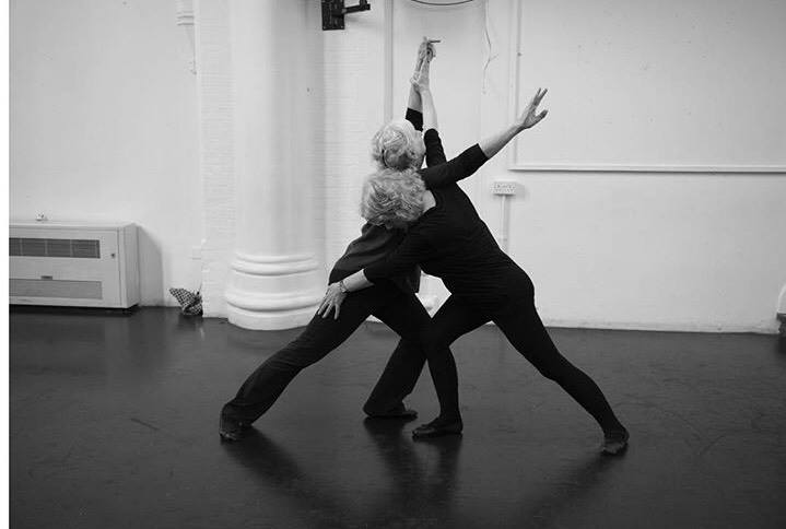 Older Dancers performing in dance class